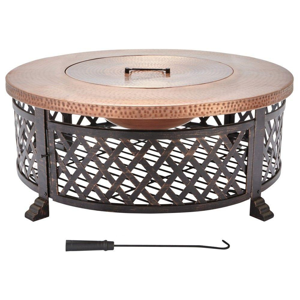 Home Decorators Collection 40 In Lattice Fire Pit Table In Copper within sizing 1000 X 1000