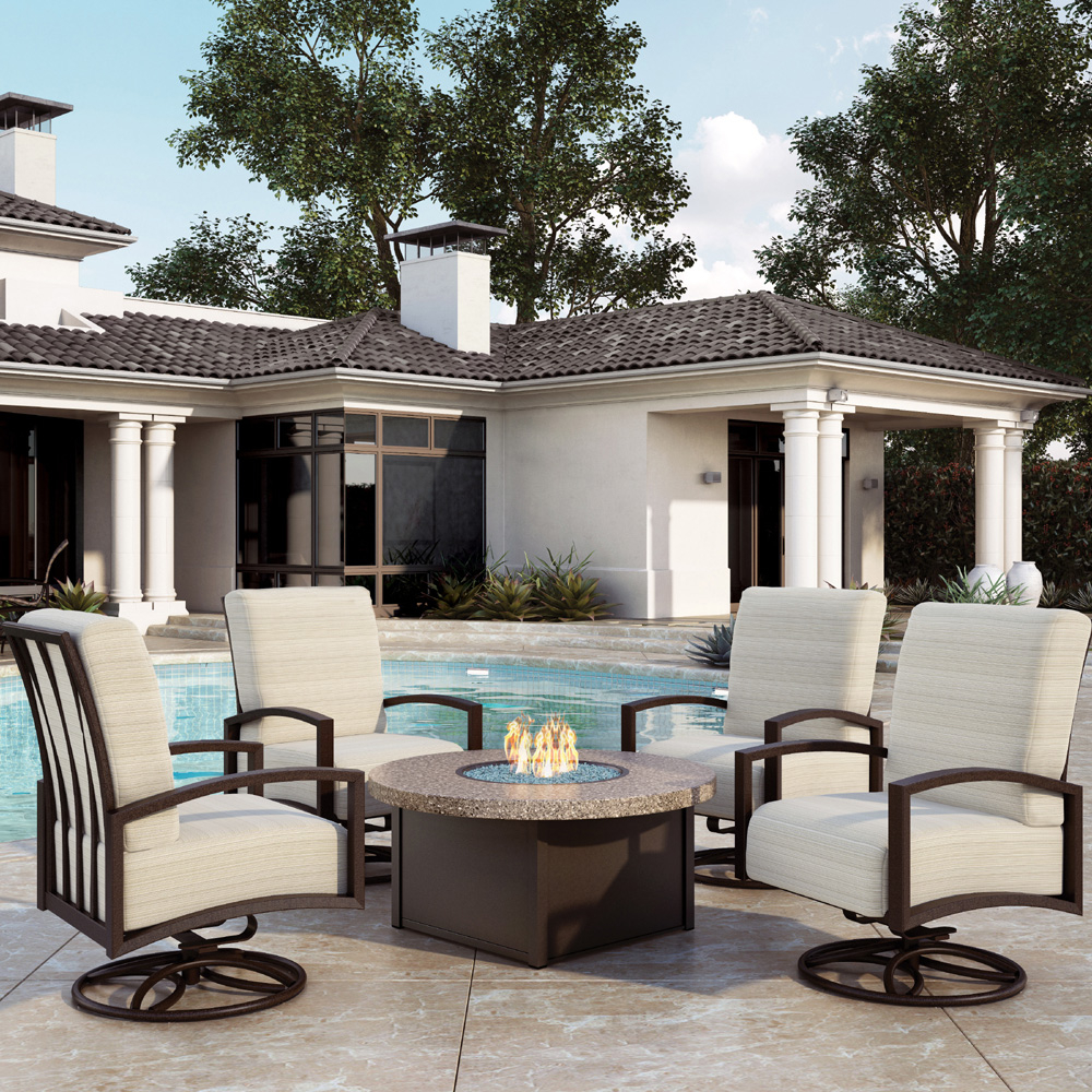 Homecrest Havenhill Cushion Fire Pit Chat Set Hc Havenhill Set4 pertaining to proportions 1000 X 1000