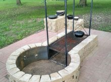 Keyhole Fire Pit With Adjustable Grille Bbq Grills Smokers pertaining to proportions 780 X 1040