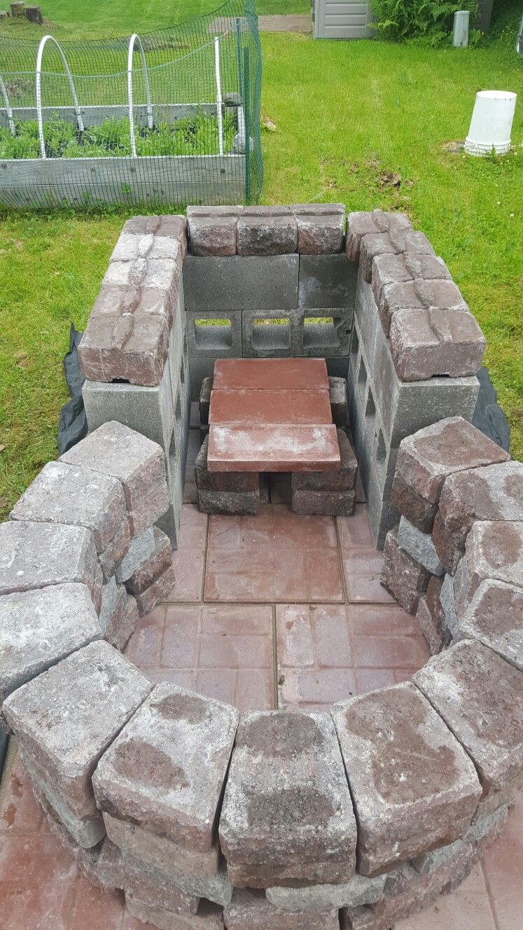 Keyhole Fire Pit With Grilling Area 4 Foot Circle Outside Diameter within dimensions 747 X 1328