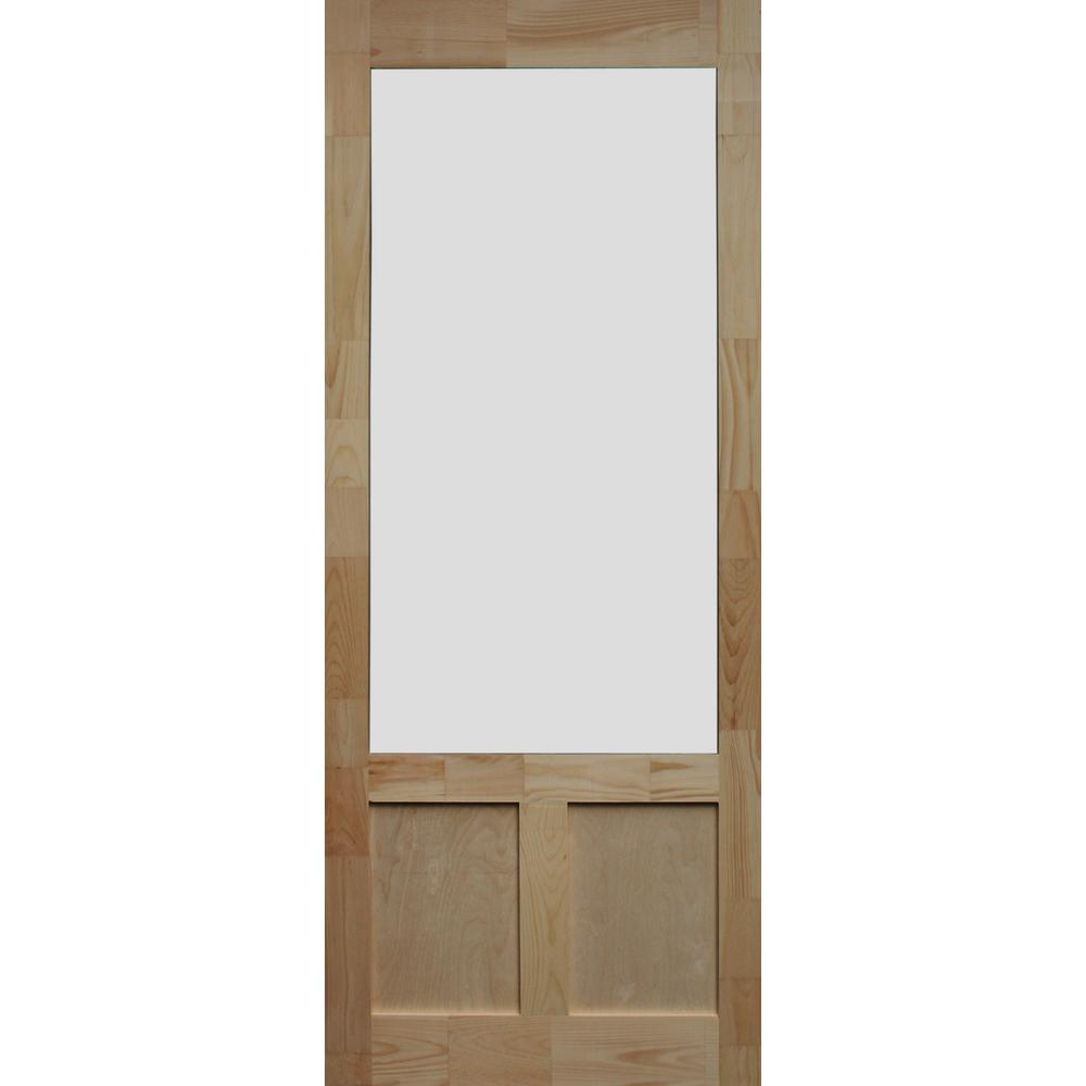 Kimberly Bay 34 In X 80 In Elmwood Natural Pine Screen Door throughout size 1000 X 1000