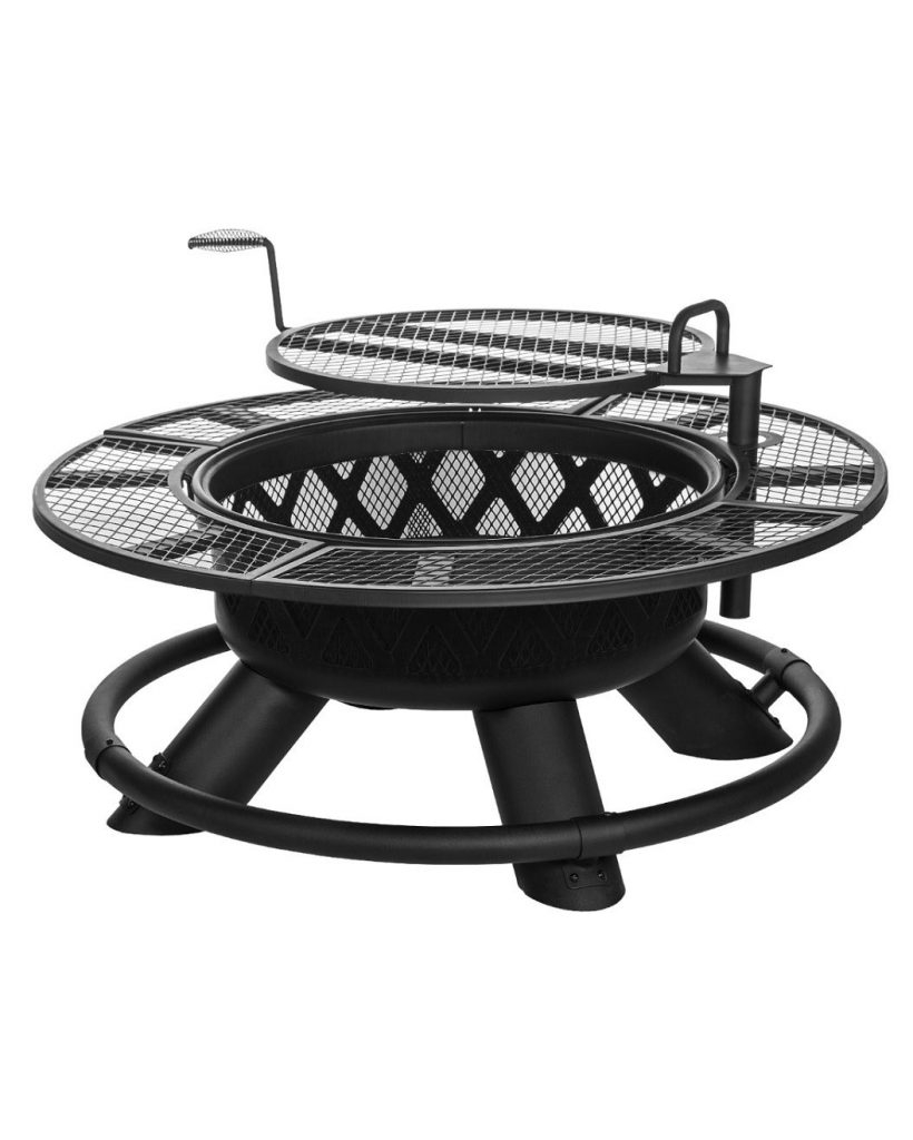 King Ranch Firepit With Grilling Grate Coastal intended for measurements 820 X 1024