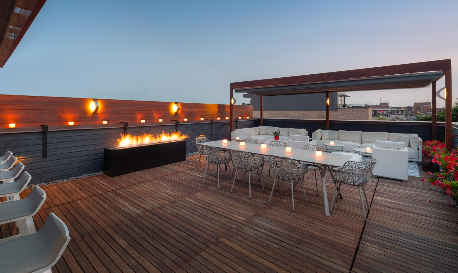 Komodo Linear Fire Pit In Black Urban Rooftop Paloform with measurements 1500 X 896