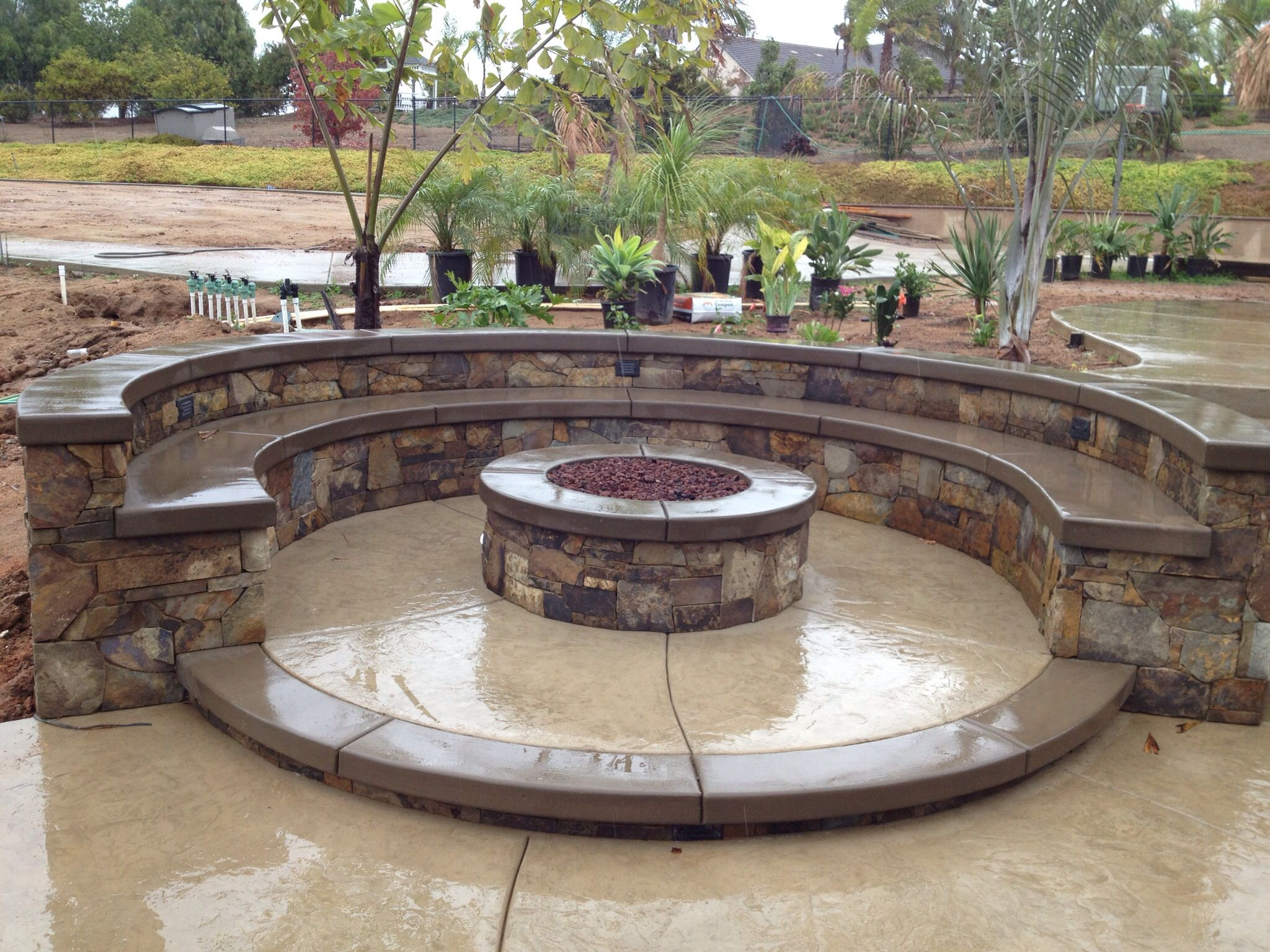 Lancon Plus Temecula Ca Fire Pit W Multilevel Seating Wall Caps regarding measurements 2048 X 1536