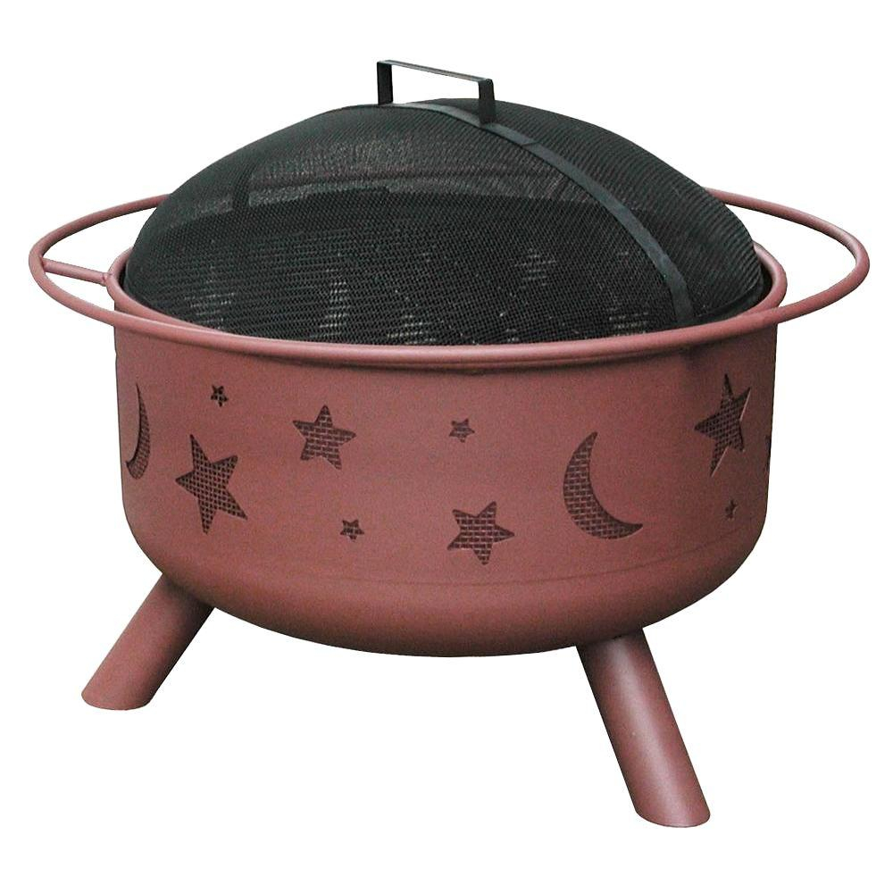 Landmann 24 In Big Sky Stars And Moons Fire Pit In Georgia Clay intended for measurements 1000 X 1000