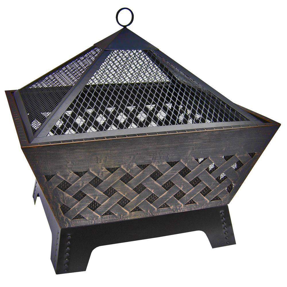 Landmann Barrone Lattice 26 In Fire Pit In Antique Bronze With intended for size 1000 X 1000