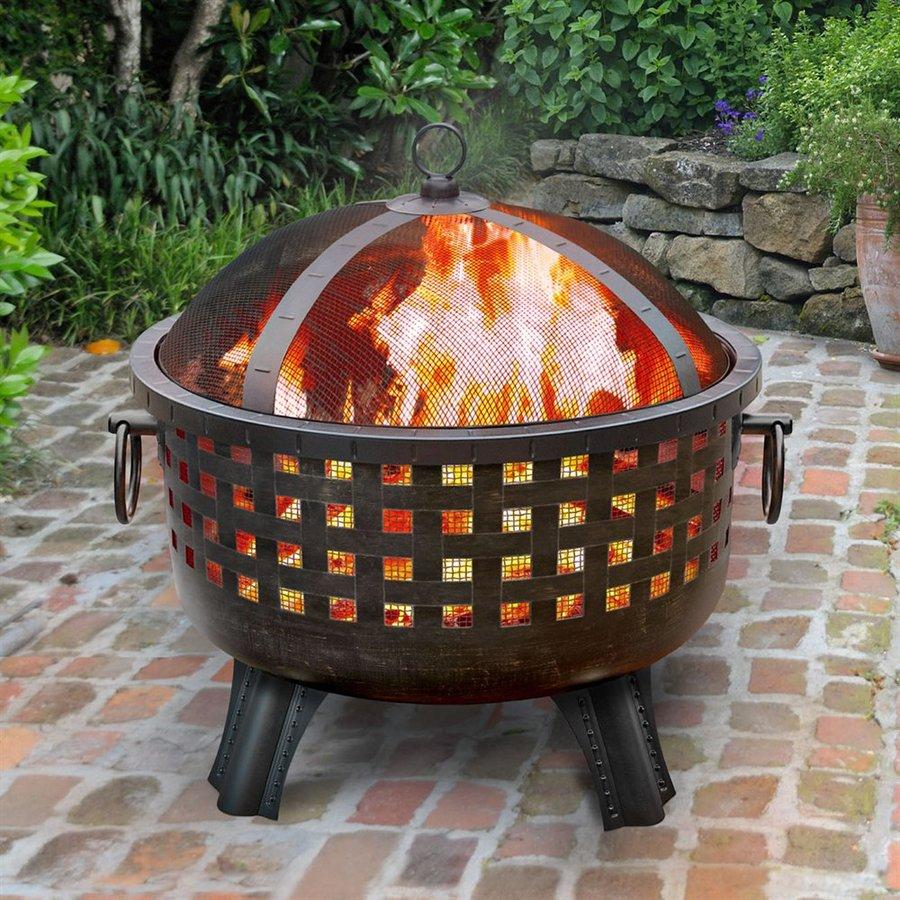 Landmann Usa Garden Lights 285 In W Antique Bronze Steel Wood for proportions 900 X 900