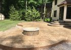 Large Ashlar Slate Stamped Patio Custom Designed Landingsteps intended for measurements 4032 X 2571