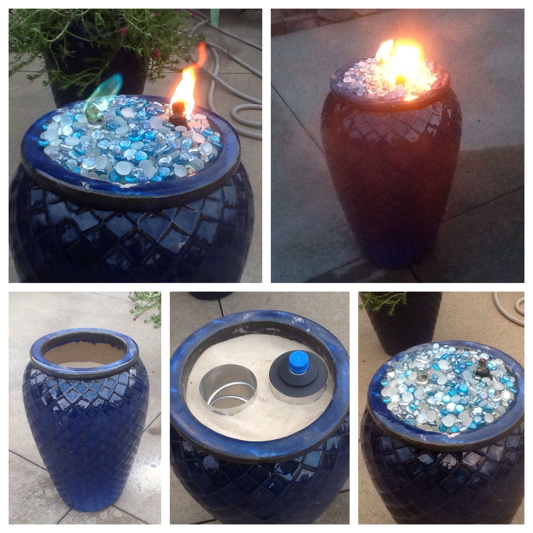 Made This Fire Pot Using A Ceramic Flower Pot Sand To Fill The Pot regarding dimensions 2048 X 2048