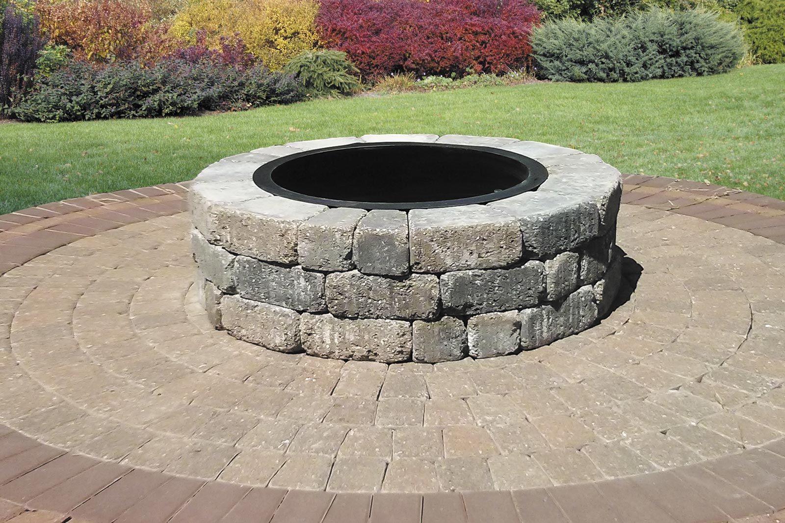 Madera Fire Pit Kit On Century Series Cobble Circle Kit Pavers throughout measurements 1600 X 1067