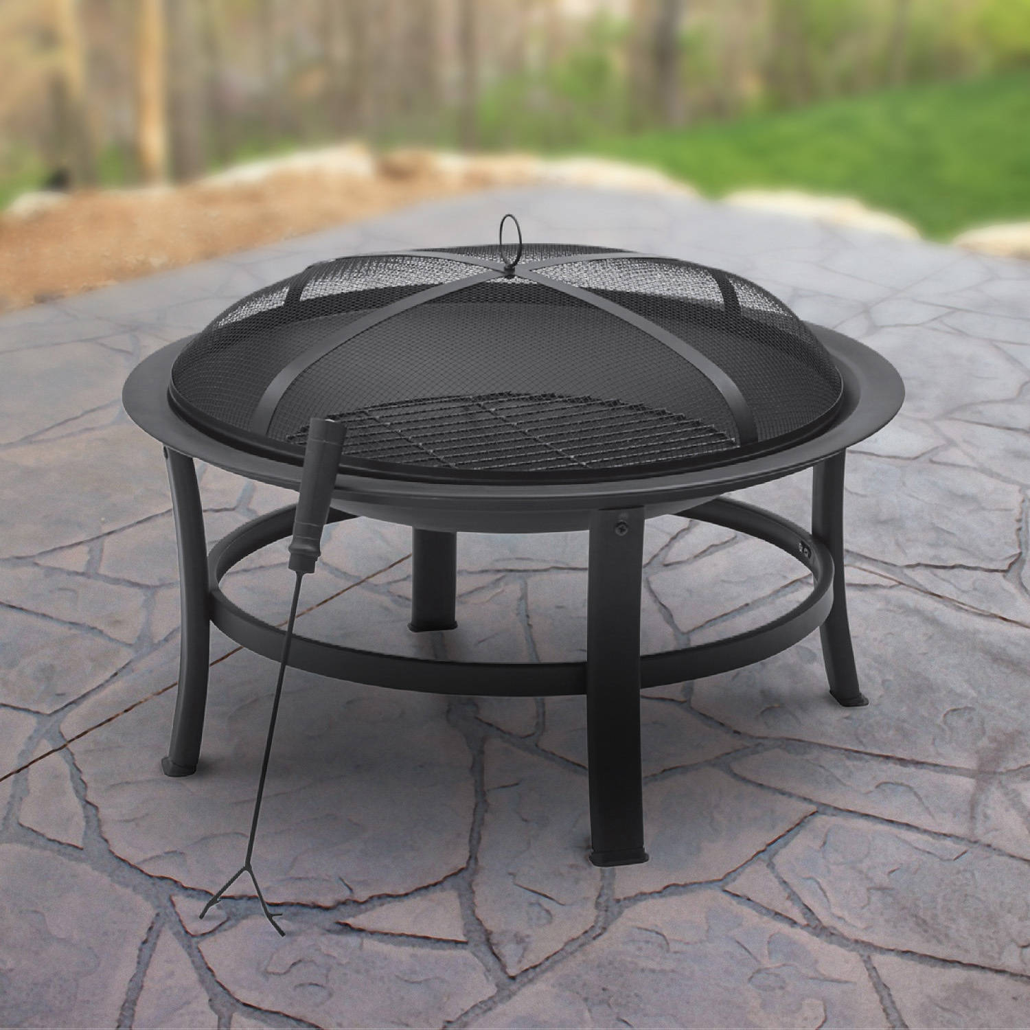 Mainstays 30 Fire Pit Black Walmart within proportions 1500 X 1500
