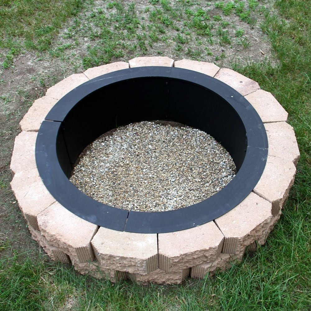 Make Your Own Steel Fire Pit Rim In Ground Liner Build Your Own with regard to size 1000 X 1000