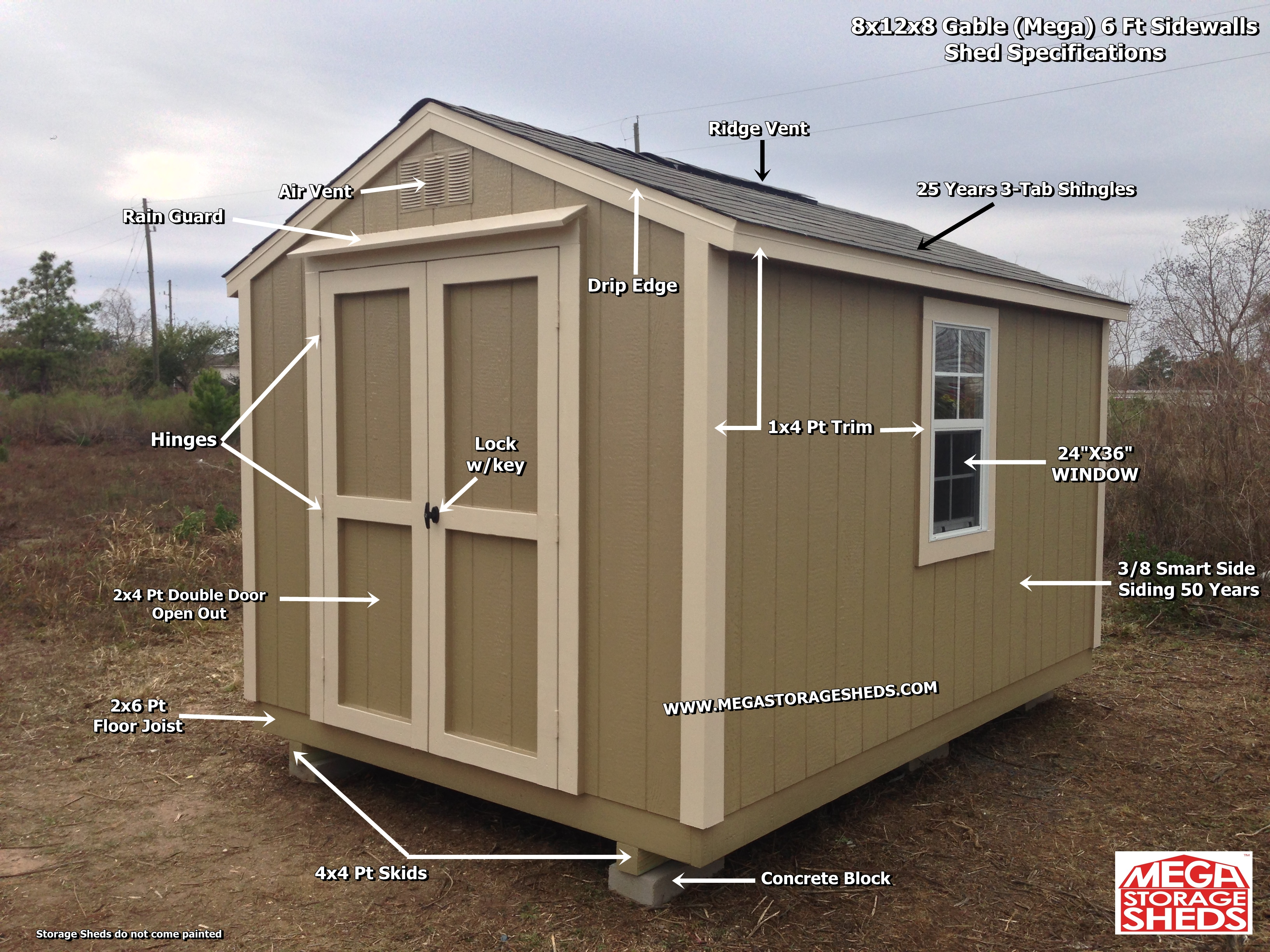 Mega Storage Sheds Shed Specifications within dimensions 3264 X 2448