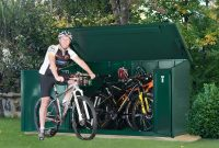 Metal Bike Storage Shed For 29 Inch Bikes Asgard Asgard with regard to sizing 1300 X 970