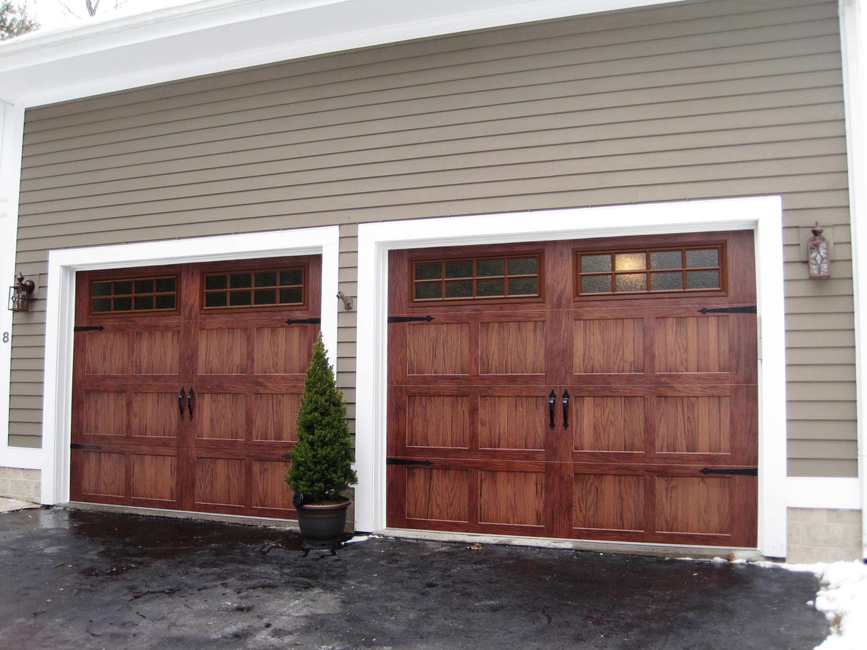 Metal Garage Doors That Look Like Wood For Our Barn Accents throughout measurements 2816 X 2112