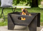 Modern Bronze Steel Fire Pit Garden Leisure Notonthehighstreet intended for dimensions 1024 X 1008