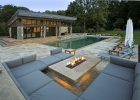 Modern Fire Pit Outdoor Lounge And Pool House Outdoor Spaces throughout measurements 1200 X 800