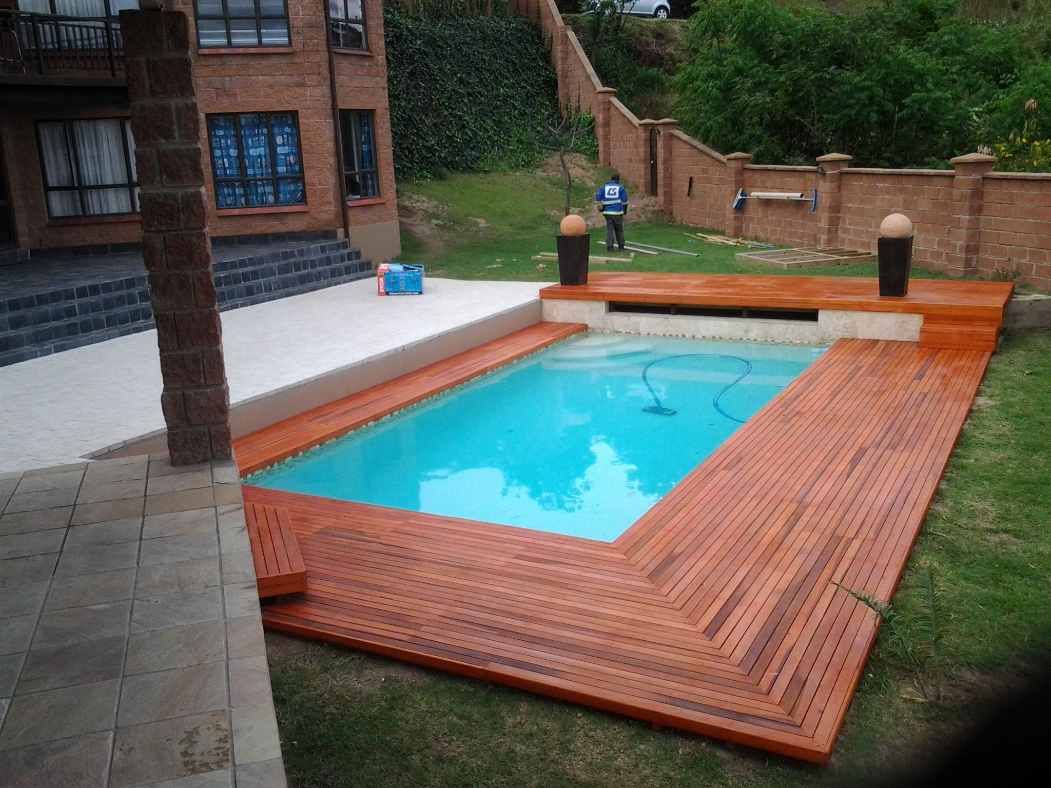 Modern Rectangular In Ground Swimming Pool Designs With Decks intended for dimensions 2048 X 1536
