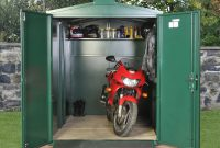 Motorcycle Storage Shed 9ft X 5ft 2 Motorbike Garage Asgard with regard to sizing 1300 X 970