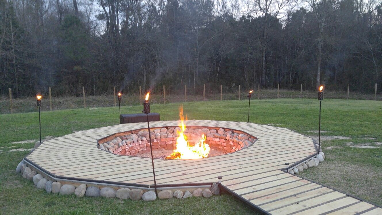 My Husband Built This Giant Fire Pit Surrounded The Most within sizing 1328 X 747
