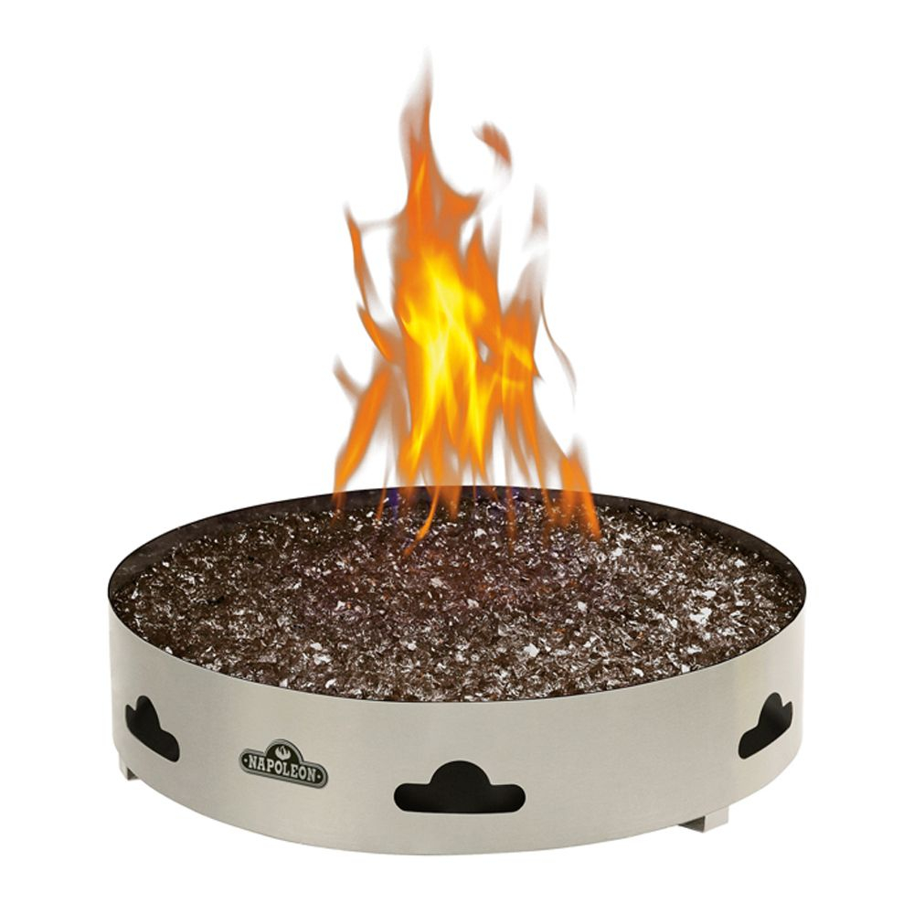Napoleon Patioflame Natural Gas Fire Pit With Glass Ember Bed The for proportions 1000 X 1000