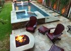 Narrow Pool With Hot Tub Firepit Great For Small Spaces Hot regarding measurements 1500 X 2250