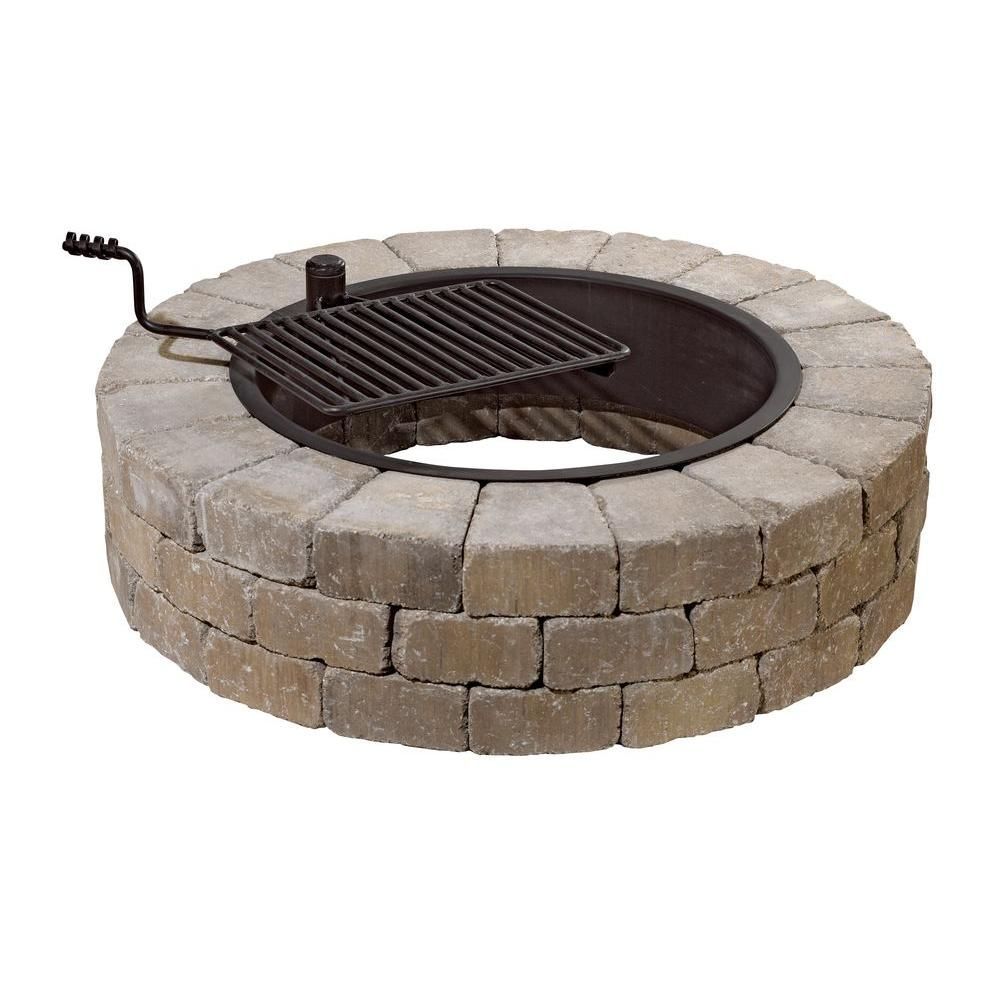 Necessories Grand 48 In Fire Pit Kit In Santa Fe With Cooking Grate with regard to measurements 1000 X 1000