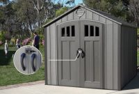 New Lifetime 8 X 10 Storage Shed Rough Cut Version Model 60211 with dimensions 1280 X 720
