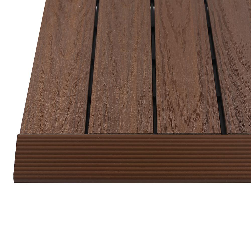Newtechwood 16 Ft X 1 Ft Quick Deck Composite Deck Tile Straight with regard to sizing 1000 X 1000