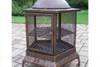 Oakland Living 24 In W Antique Bronze Cast Iron Wood Burning Fire pertaining to size 900 X 900