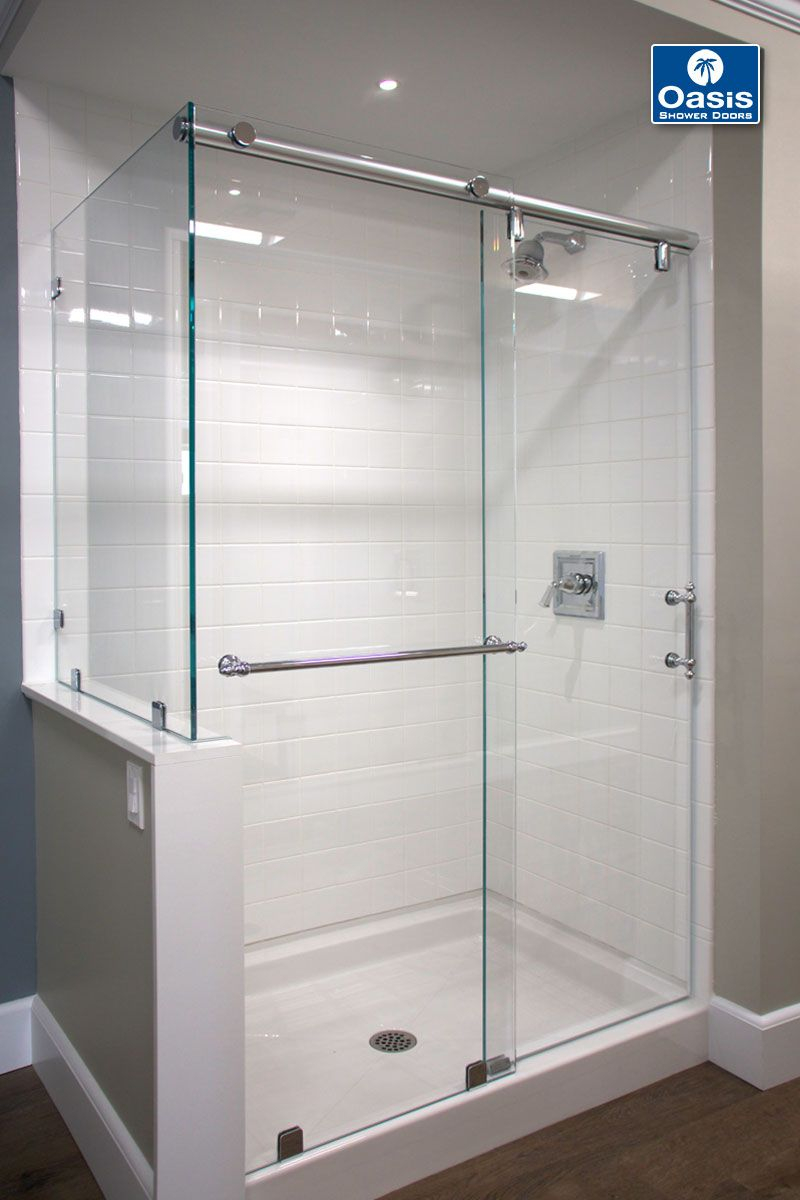Oasis Hydroslide With Return Panel The Shower Features 12 Glass within size 800 X 1200
