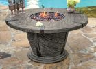 Old World Gas Fire Pit Table W Burner Cover Foremost Veranda with dimensions 900 X 900