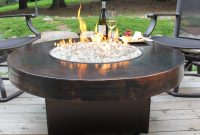 Oriflamme Gas Fire Pit Table Hammered Copper Somber Outdoor intended for sizing 2916 X 2083