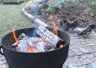 Our Fire Pit Made Placing A Large Cast Iron Pot With Drainage inside proportions 2780 X 3429