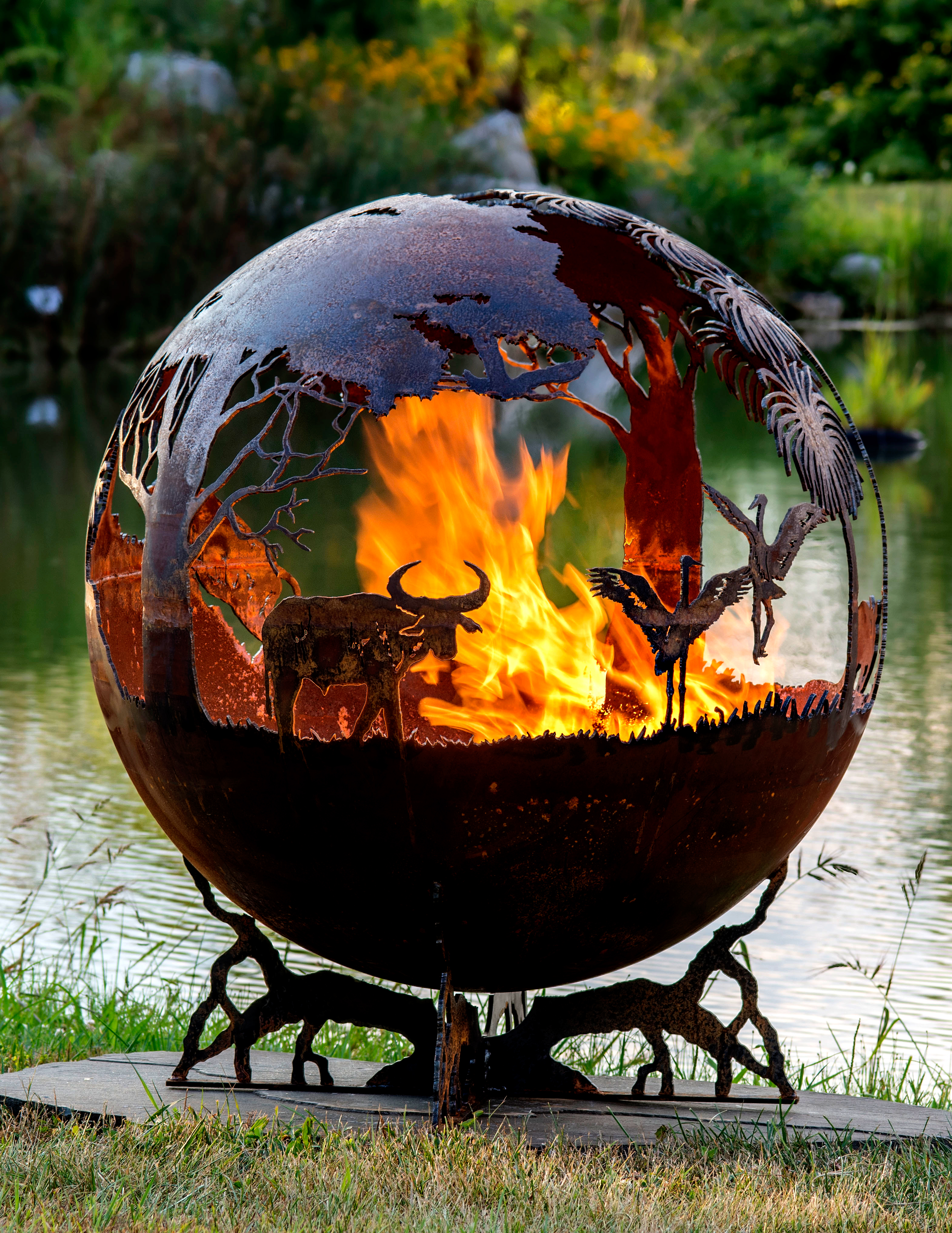Outback Australia Fire Pit Sphere The Fire Pit Gallery within size 3141 X 4066
