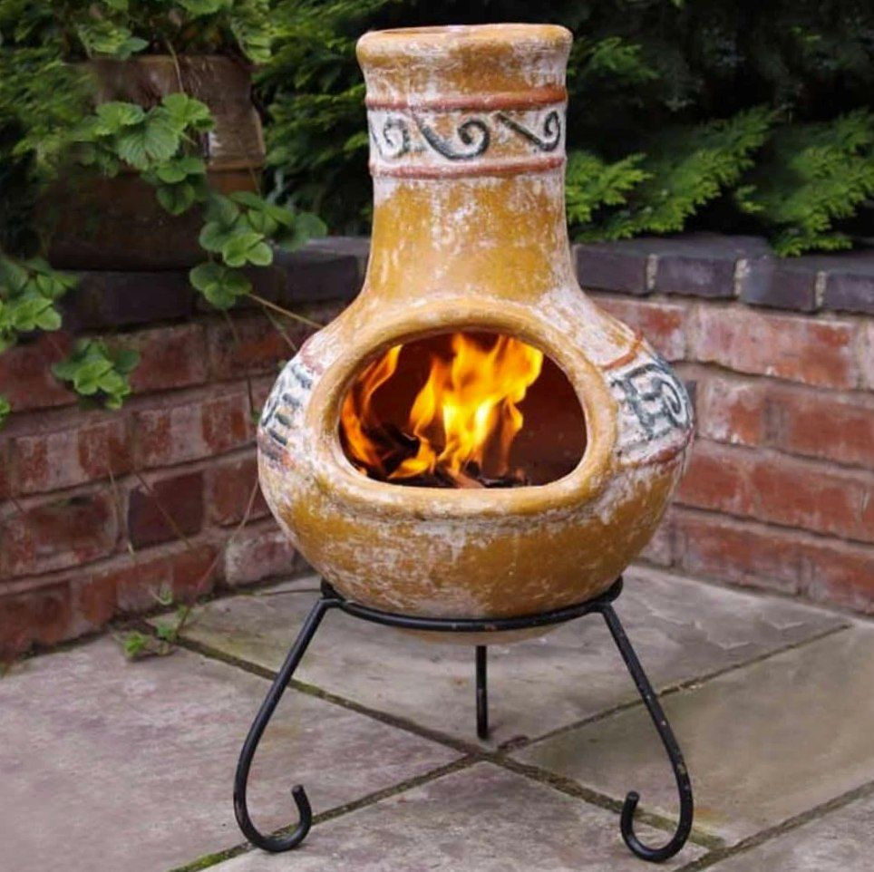 Outdoor Clay Fire Pit Clay Fire Pits Clay Chiminea Chiminea regarding proportions 964 X 962