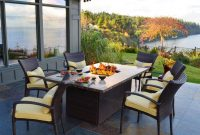 Outdoor Dining Table With Fire Pit In The Middle Fancy Pendant pertaining to sizing 945 X 945