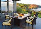Outdoor Dining Table With Fire Pit In The Middle Fancy Pendant throughout proportions 945 X 945