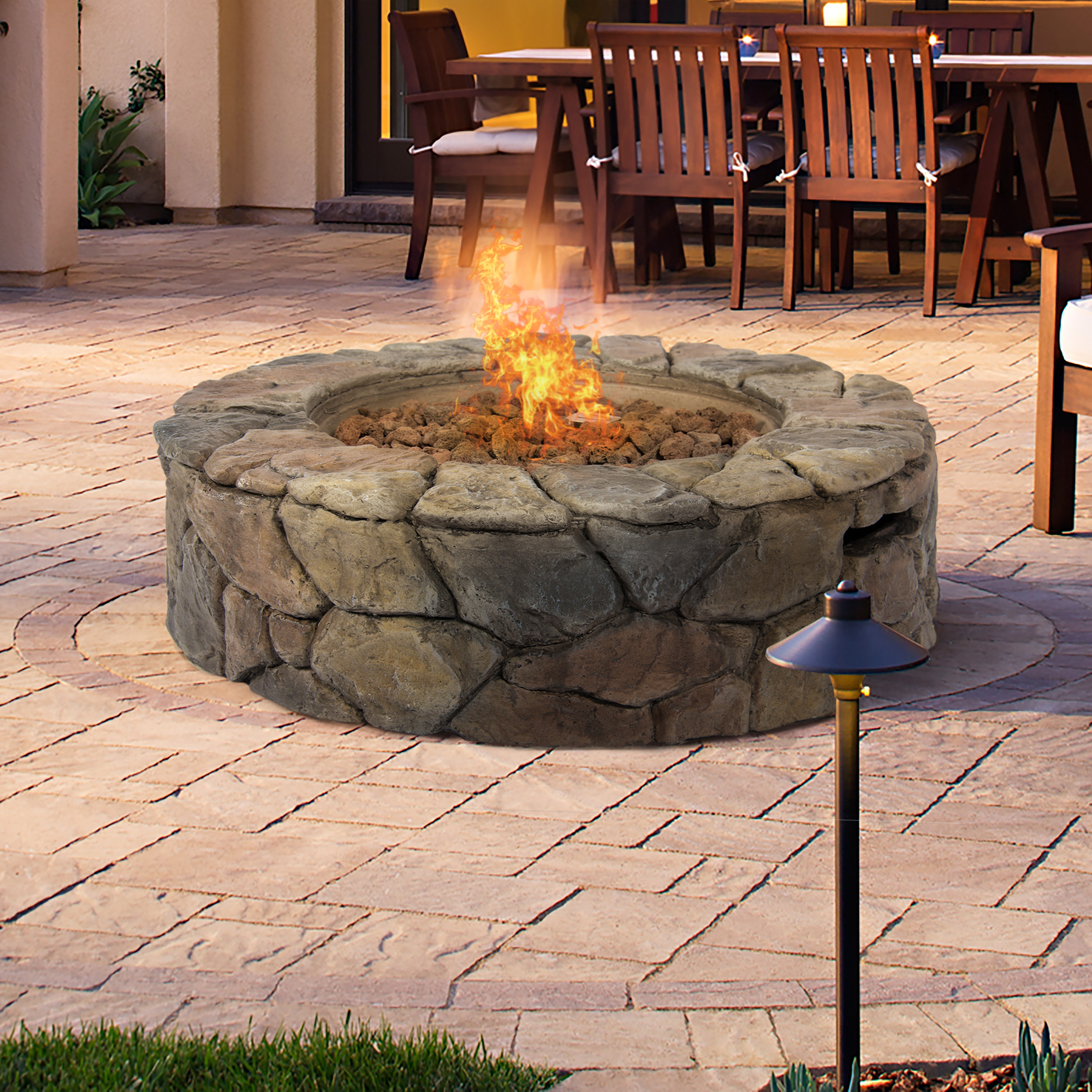 Outdoor Fire Pit Coffee Table Self Contained Propane Fire Pit for dimensions 2600 X 2600