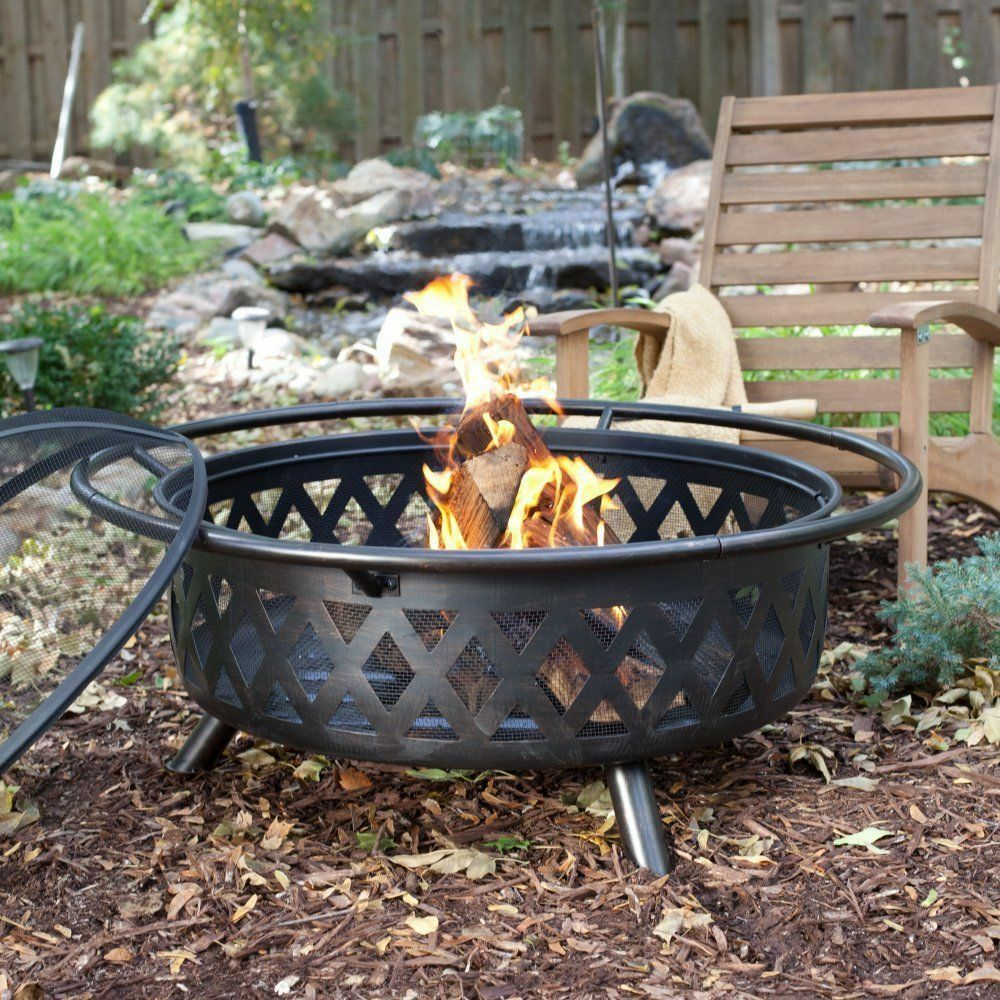 Outdoor Fire Pit Extra Large Bronze Fire Pit Steel Backyard With in dimensions 1000 X 1000