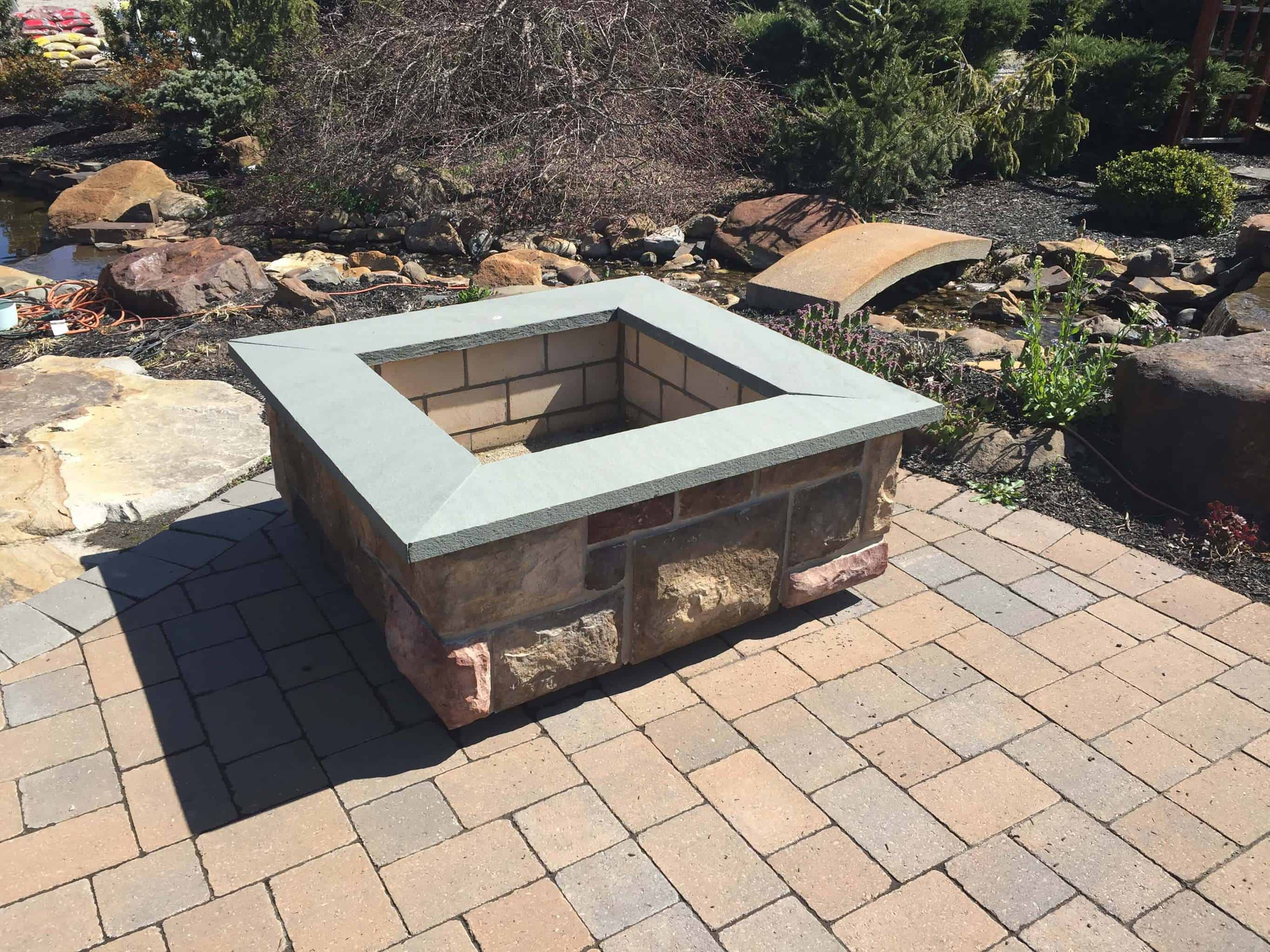 Outdoor Fire Pit Kit Square Stoneyard inside dimensions 2731 X 2048