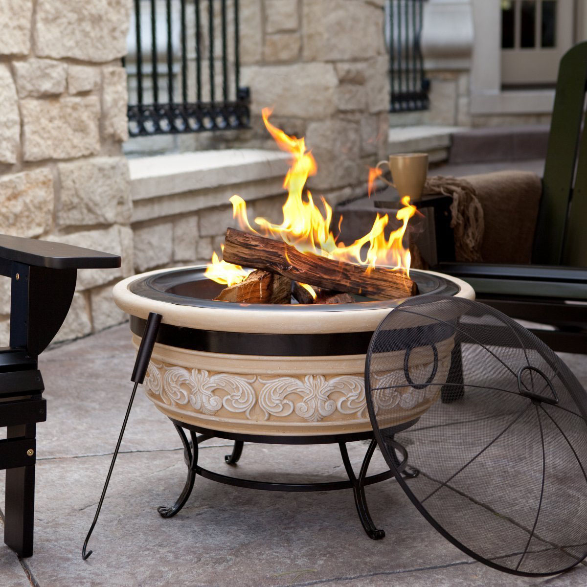Outdoor Fire Pit Portable Fireplace Design Ideas intended for measurements 1200 X 1200
