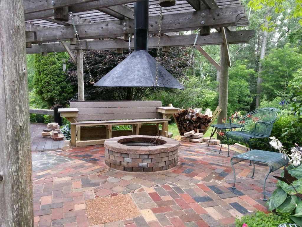 Outdoor Fire Pit With Chimney 12785 with measurements 1024 X 768
