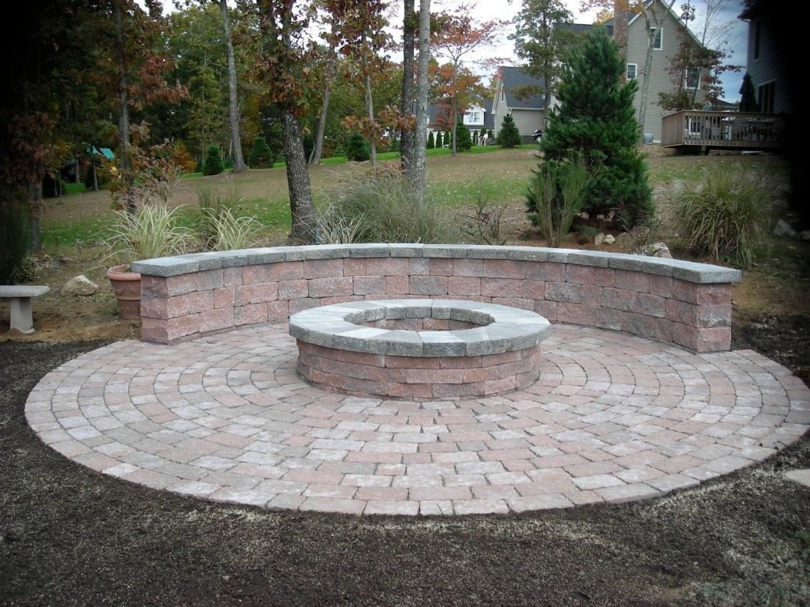 Outdoor Fire Places Wood Exterior Classy Round Stone Fire Pit With throughout sizing 1138 X 853