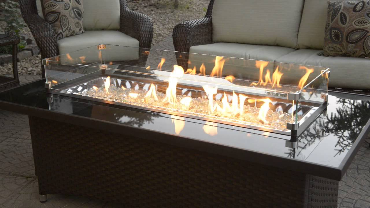 Outdoor Greatroom Montego Fire Pit Table With Balsam Wicker Base At intended for measurements 1280 X 720