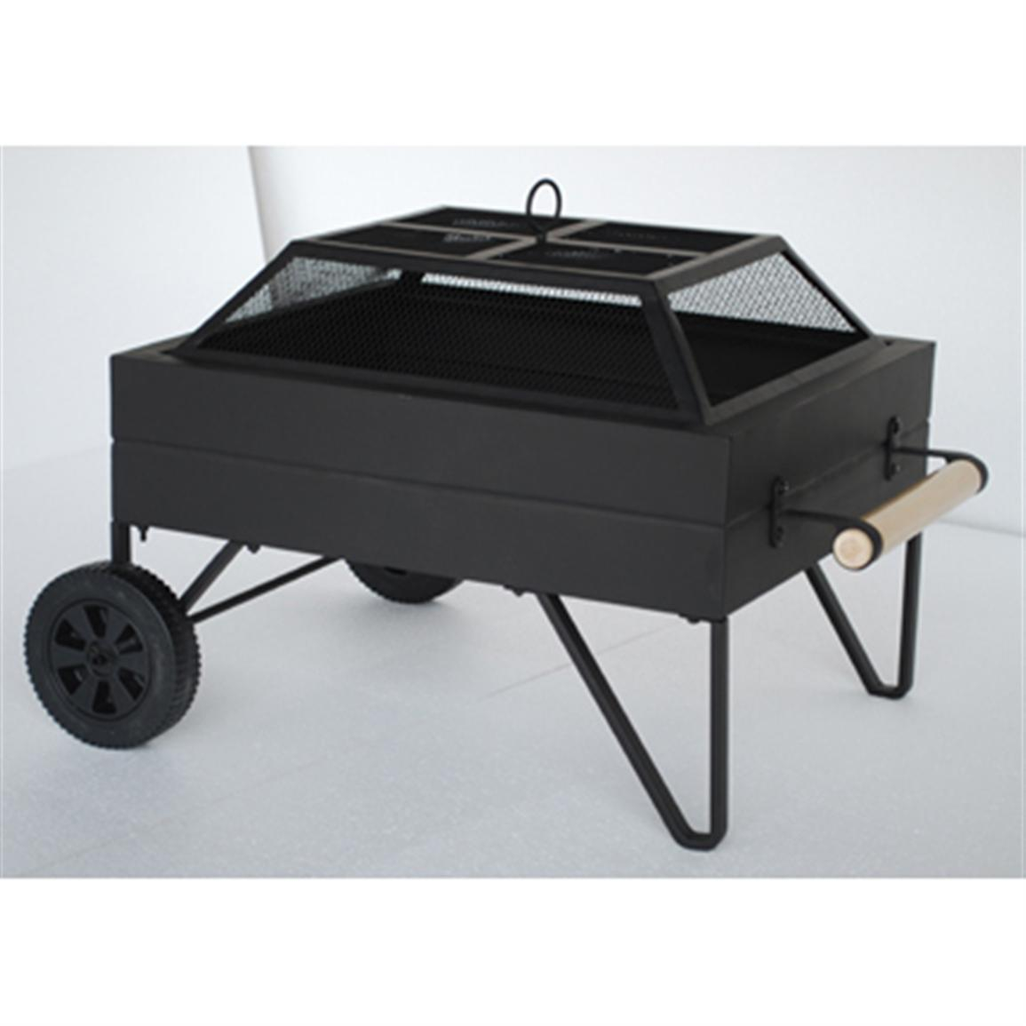 Outdoor Living Fire Pits Patio Heaters Steel Fire Pit On Wheels with regard to size 1155 X 1155