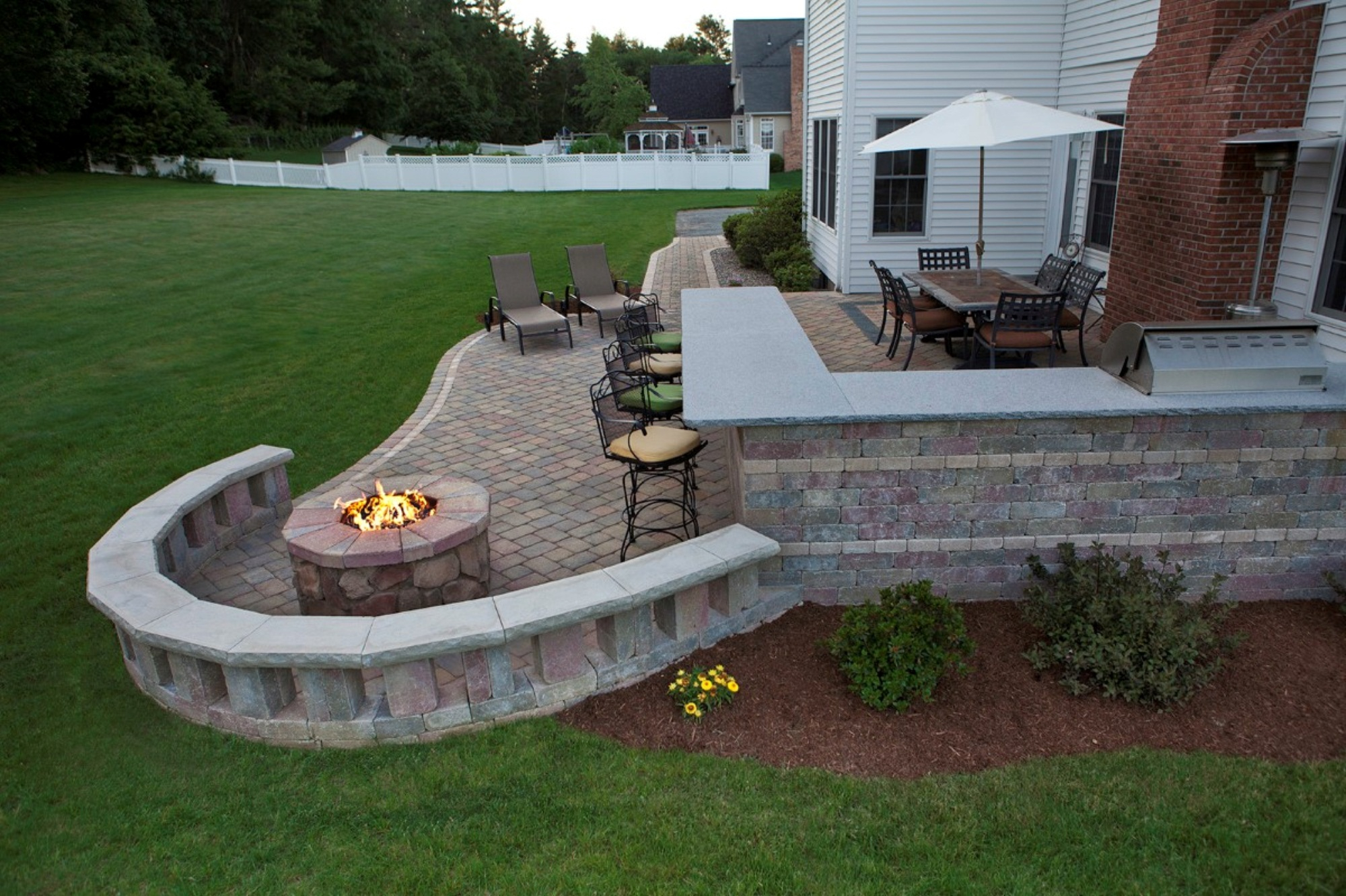 Outdoor Patio Designs With Fire Pit Fireplace Design Ideas with sizing 2000 X 1333