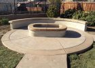 Oval Fire Pit With Matching Sitting Wall Mccabes Landscape for measurements 1500 X 1125