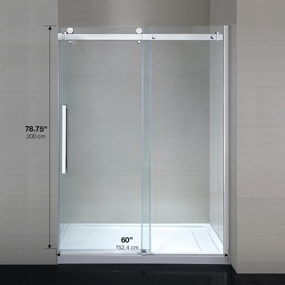 Ove Decors Sierra 60 In X 79 In Frameless Sliding Shower Door In with regard to sizing 1000 X 1000