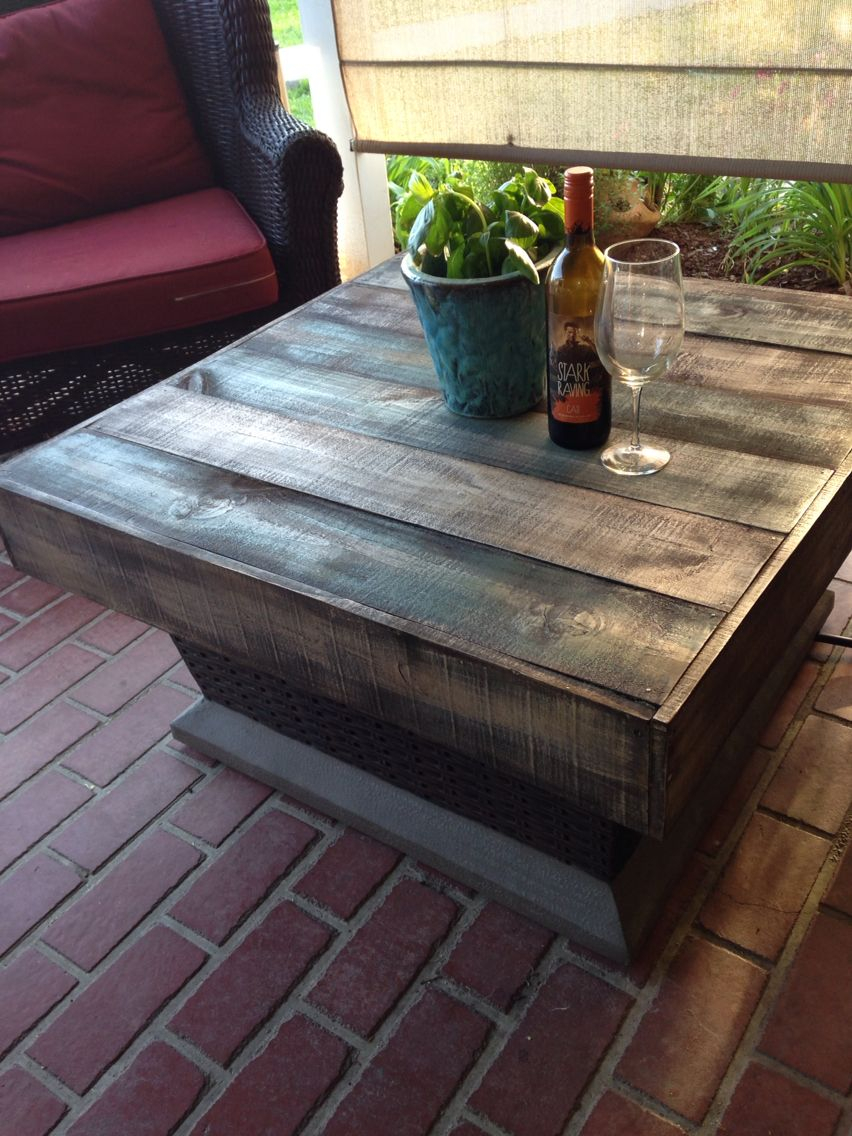 Pallet Wood Or Fence Slat Fire Pit Table Cover Great For Summer inside size 852 X 1136